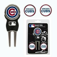 Chicago Cubs MLB Team Golf Divot Tool with 3 Magnetic Ball Markers
