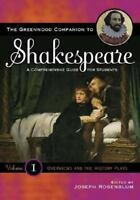 Greenwood Companion to Shakespeare : A Comprehensive Guide for Students