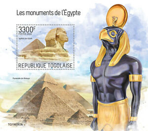 Togo 2019  Monuments of Egypt ,Great Pyramid,Great Sphinx   S201909