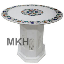 Marble Coffee Table Top Inlay Mosaic Dining Table Marquetry Vintage Furniture