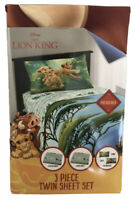 The Lion King Full Sheet Set 4 Pcs. Microfiber Disney Licensed