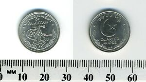 Pakistan 1948 - 1/4 Rupee Nickel Coin - Tughra & date - Crescent & star - #2