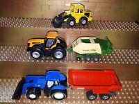 Siku Spielzeug Landmaschienen Trecker Traktoren New Holland Krone Fastrac Krampe