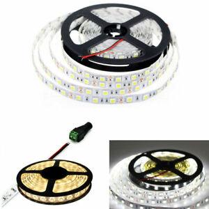 12V 5M SMD 5050 3528 5630  white WarmWhite 300 LED Flexible 3M Tape Strip Light