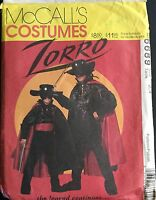 McCall's Sewing Pattern 6689 Costume Halloween Zorro Size 2-4 Mask Cape Shirt