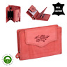 Women's GENUINE LEATHER Wallet Purse Credit Card Holder Zipped Red