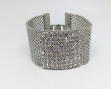 Unbranded Cubic Zirconia Lab-Created/Cultured Sterling Silver Fashion Bracelets