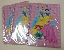 Whole Sale Lot 3 Disney Princess Paper Notebook Journal Diary Scrapbook Lined