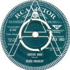 """King ELVIS Presley """"GUITAR MAN / HI HEEL SNEAKERS"""" UK DEMO PROMO SAMPLE 45 MINT!"""