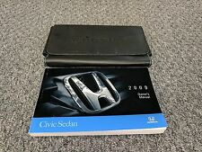2009 Honda Civic Sedan Owner Owner's Manual w/ Case DX LX ES SI GX 1.3L 1.2L 2.0