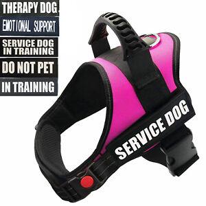 Servcie Dog Nylon Dog Vest Harness W/ Reflective Patches IN TRAINING EMOTIONAL