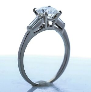 Platinum and Diamond Engagement Ring  - (Size -6.50) **Setting Only**