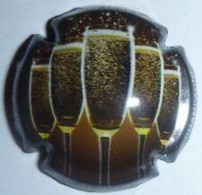Capsule de Champagne: Super !!! STRAUSS GEORGETON , 5 flûtes, noir et or , n°7a