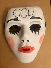 """La Purga Anarquía 2 Máscara Halloween Elaborado Vestido Disfraz De Terror de Dios """"vendedor del Reino Unido"""""""