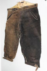 Alte Kniebund Lederhose mit schöner Patina Oktoberfest Bundweite 100 cm (H83)
