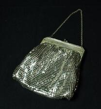 Vintage Whiting & Davis Silver Metal Mesh Evening Bag Purse 1940s
