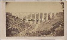 Viaduc Paris Brest à Saint-Brieuc Bretagne cdv Vintage albumine ca 1865