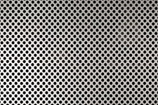 "22 GA Perforated Stainless Steel Sheet - 1/8"" holes - 3/16"" Stagger - 12"" x 36"""