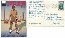 """Cartolina 7 ° C.A.R. Siena viaggiata 1952 """" E noi d'Italia siamo la speranza"""""""
