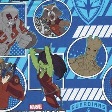 Marvel Guardians Of The Galaxy Portrait Fabric Blue Groot Rocket Characters - FQ