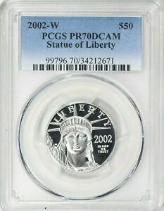 2002 W 1/2~OZ~ PLATINUM AMERICAN EAGLE ~ PCGS ~ PR~70 DCAM