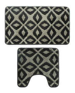 Bathroom 2 Piece Rug Set Includes Contour Toilet Mat and 18x30 Carpet Mat#Z3B3