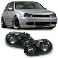 BLACK  HEADLIGHTS HEADLAMPS FOR VW GOLF 4 MK4 MK 4 IV V4 NICE GIFT
