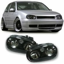BLACK  HEADLIGHTS HEADLAMPS FOR VW GOLF 4 MK4 MK 4 IV V4 NICE GIFT