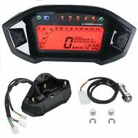 Universal 7 Colors Backlight Motorcycle Speedometer Odometer for 1,2,4 Cylinders