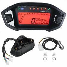 Digital LCD Backlight Motorcycle Speedometer Odometer Tachometer Gauge 7 Colors