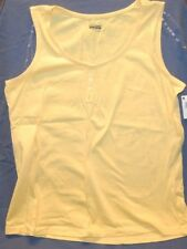 Basic Editions Womens Tank Top Yellow NWT