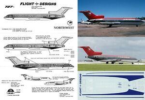 FLIGHT DESIGNS DECALS 1/144 Boeing 727-100/200 (Northwest)