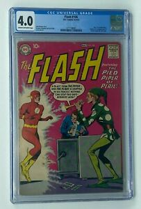 FLASH #106 DC Comics 1959 CGC 4.0 Part 1 of Grodd Trilogy Pied Piper Appearance