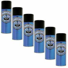 6x Hammerite Direct To Rust Paint For Metal Restore 400mL - Smooth Black