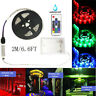 6.6ft RGB 5050 Waterproof LED Strip light SMD Battery Case RF Controller 5V 2A