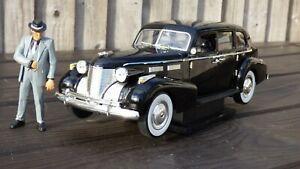 Rare Jada The Godfather 1:18 1940 Cadillac Fleetwood & Don Vito Corleone Toy Car