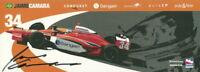 2008 Jaime Camara signed Conquest Racing Honda Dallara Indy Car postcard