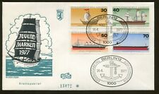 1977 Berlin Germany - Inception Youth Brand Sailing - Gorch Fock First Day Cover