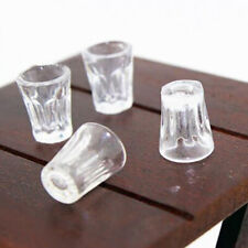 4pcs Dollhouse Miniature Accessories Mini Resin Transparent Cup Simulation ModLD