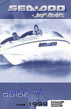 Sea-Doo Owners Manual Book 1999 SPORTSTER, CHALLENGER, SPEEDSTER & SPEEDSTER SK