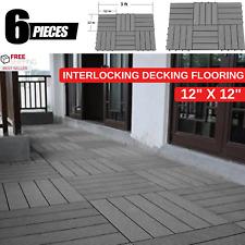 "Interlocking Decking Flooring Of Wood & Plastic Composites 12"" x 12"" Deck Tiles"