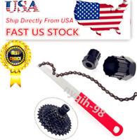 US Mountain Bike Cassette Freewheel Chain Whip Sprocket Lock Remover Repair Tool