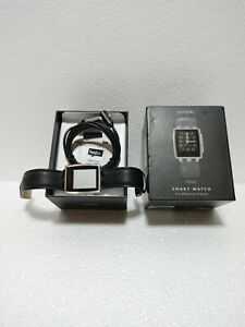 Pebble Steel Smartwatch 401SLR with Black Leather Band - NOT WORKING Bad battery