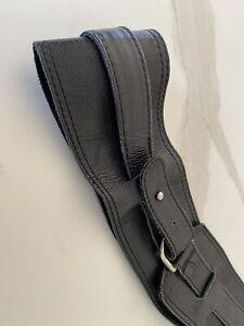 Cue Black Leather Belt Size S-M Worn Three Times RRP $189