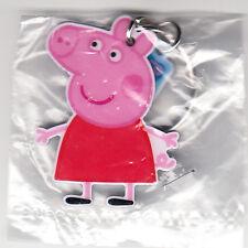 2017 PEPPA PIG POPULAR CARTOON PROMO PROMOTIONAL KEYCHAIN KEY CHAIN KEYRING