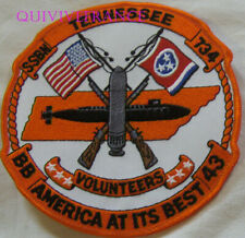 PUS274 - US NAVY USS TENESSEE SSBN 734 PATCH SOUS-MARIN NUCLEAIRE