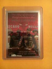 CHICAGO BULLS 1997-98 TOPPS CHROME 1996-97 CHAMPIONSHIP JORDAN PIPPEN CARD 51