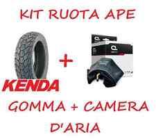KIT GOMMA COPERTONE PNEUMATICO + CAMERA D'ARIA 100/90/10 3.50/10 PIAGGIO APE 50