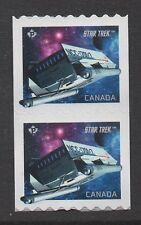 Canada 2017 Star Trek Coil Pair NCC-1701-D Shuttle, MNH VF
