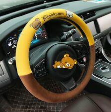 1Pcs Fashion Cartoon Rilakkuma Bear Plush Car Steering Wheel Cover 38cm